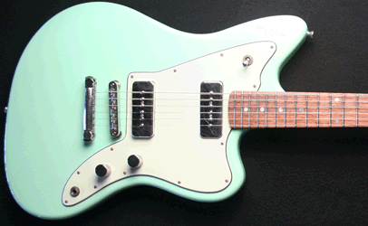 Fano JM6 Surf Green Xtra Light Relic Finish Body Top