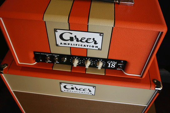 Greer Amps CAM 18 Head & 1x12 Cabinet Top Stripes
