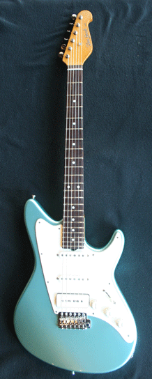 Grosh ElectraJet Custom Ice Mint Metallic Body Vertical