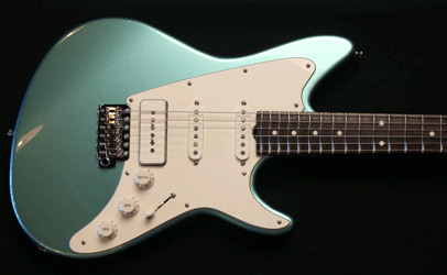 Grosh ElectraJet Custom Ice Mint Metallic Body Top