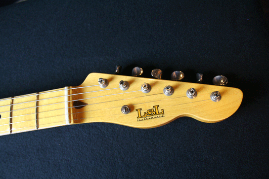 LSL Tbone Swamp Ash Body Buttersscotch Finish Headstock