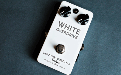 Lotus Pedals White Overdrive
