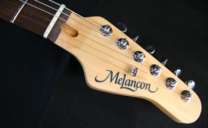 Melancon Custom Artist T Cherry Sunburst Headstock