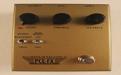 Piedmont Custom Electronics (PCE-FX) Aluminum Falcon II Overdrive Guitar Effects Pedal
