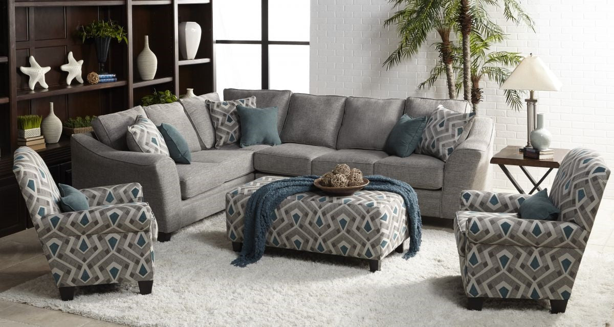 Amazing Linen Grey Quartz Sectional Dailytribune Chair Design For Home Dailytribuneorg