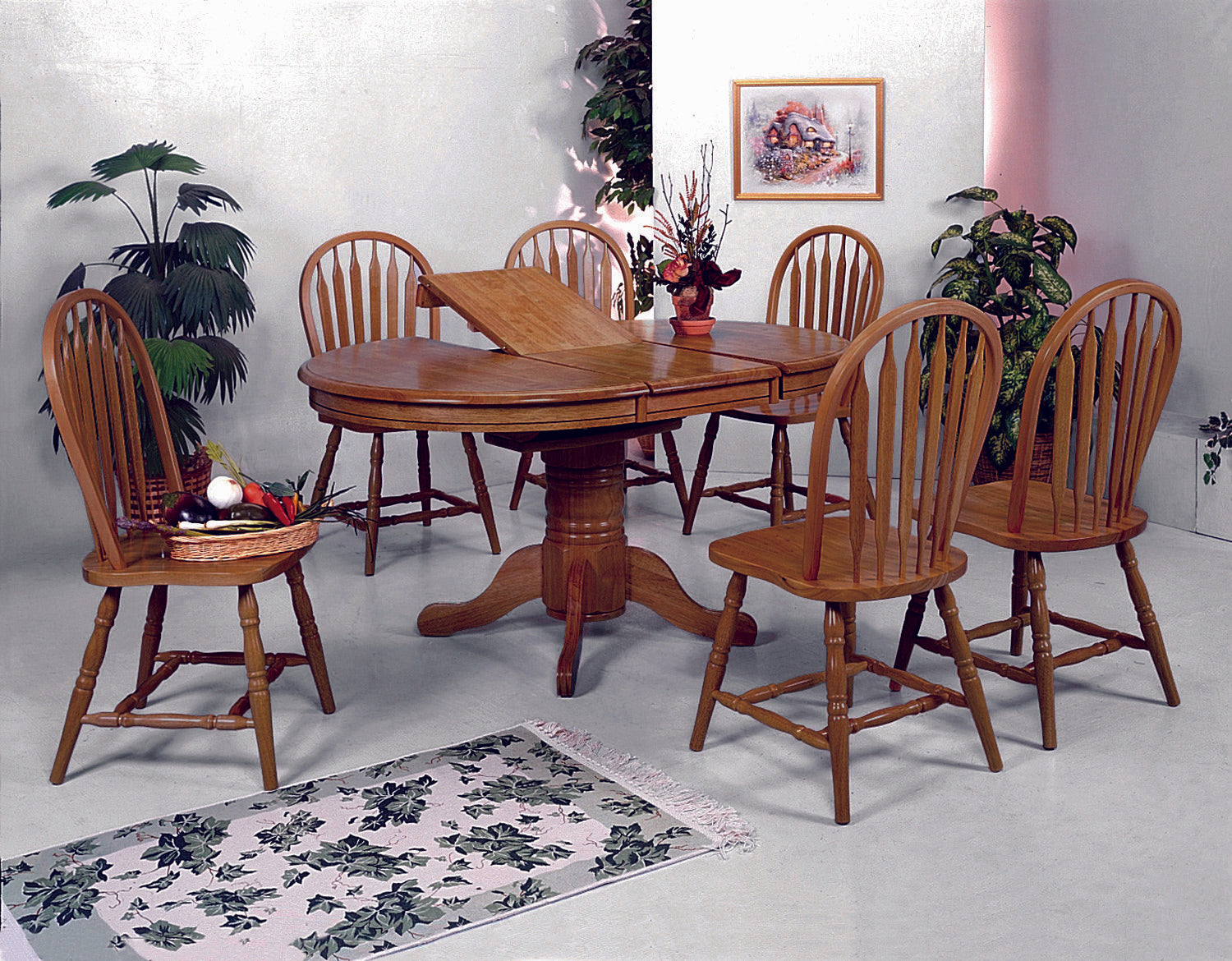 Butterfly Leaf Oak Dining Set
