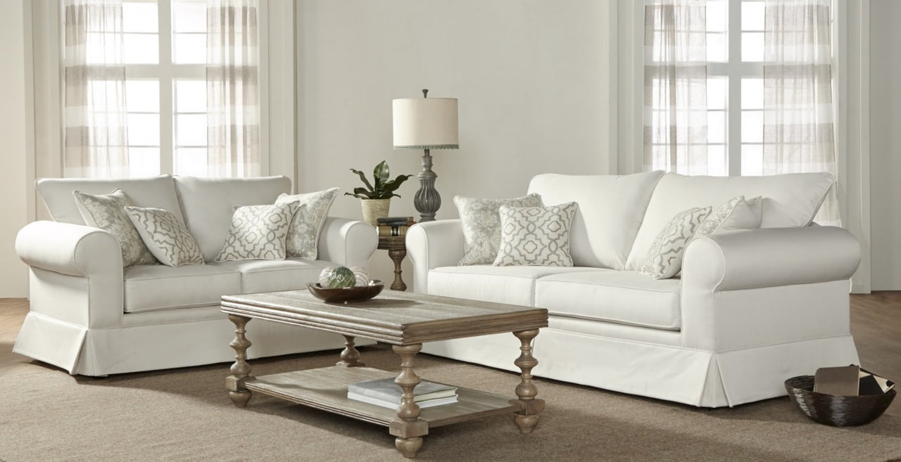 Talbot Alabaster Sofa and Loveseat