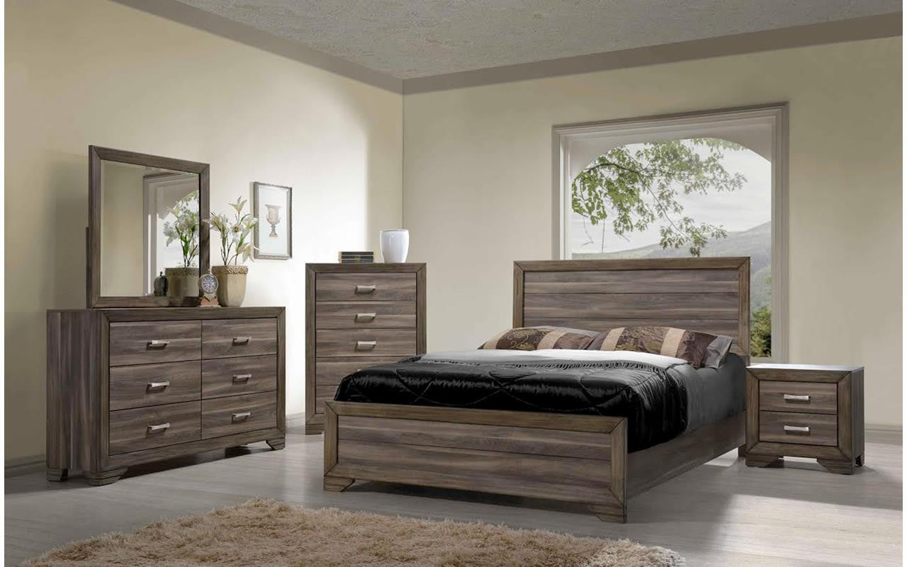 Asheville Driftwood King Bedroom Set , King Bedroom Set - Bernards Furniture, My Furniture Place