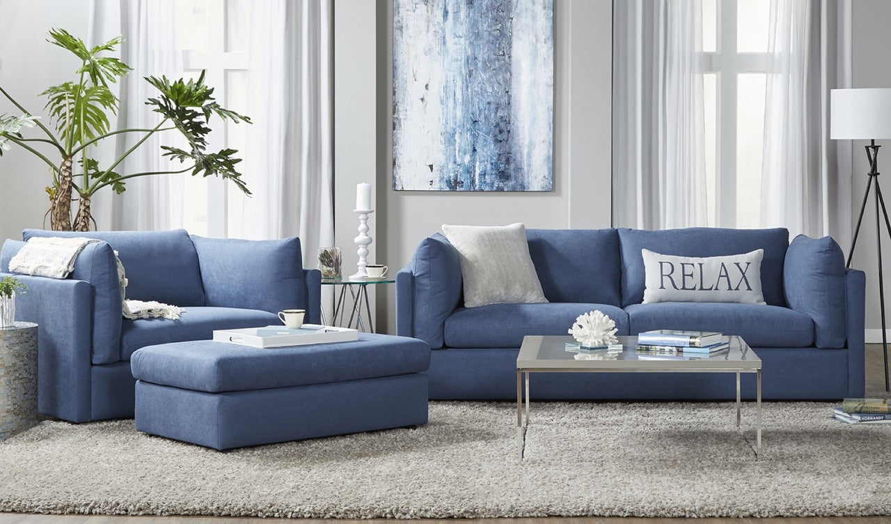Navy Relax Cuddle Sofa and Chair