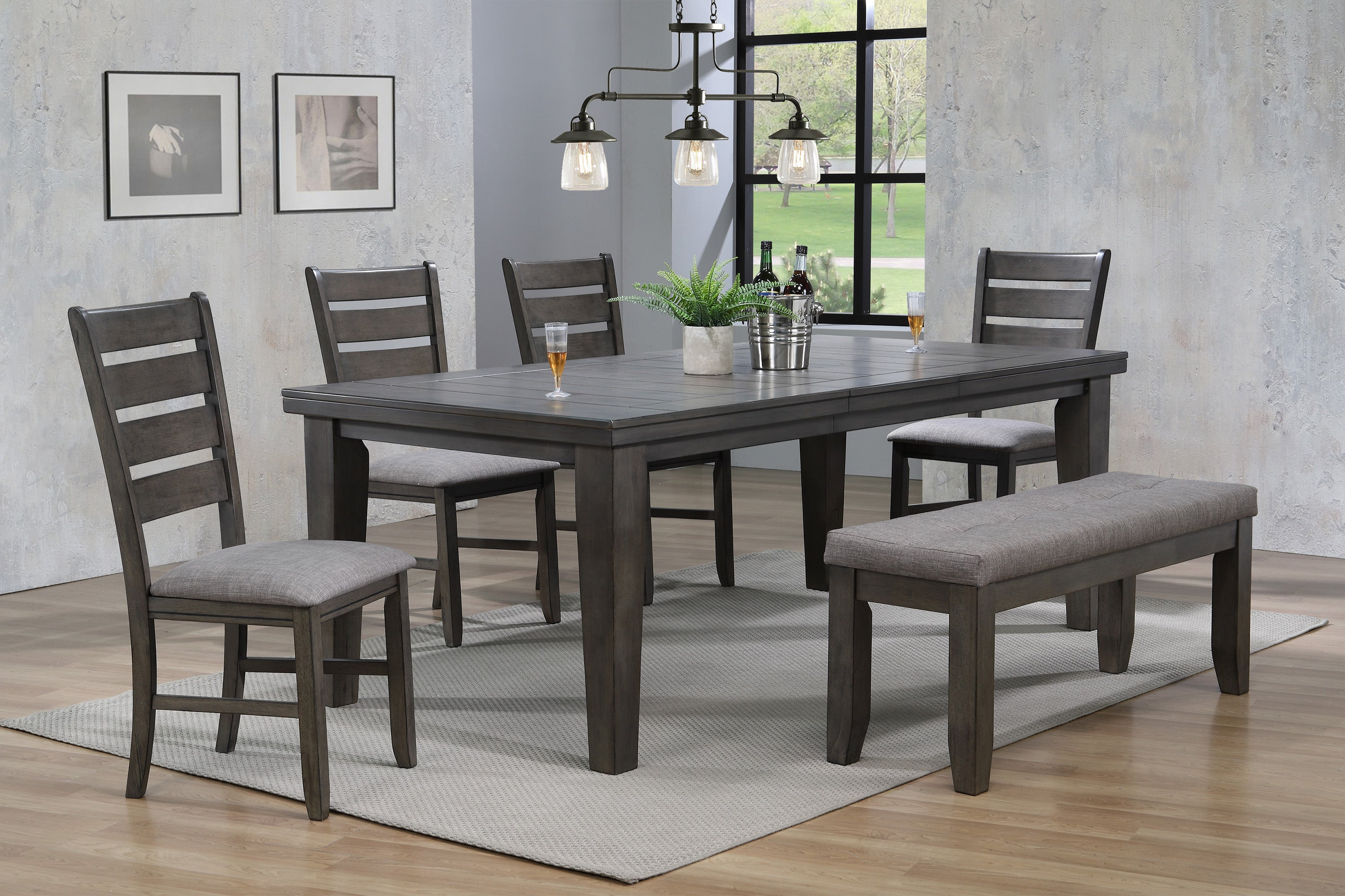 Bardstown Plank Gray Dining Set