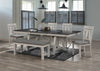 Farmhouse Chalk White and Gray Dining Set