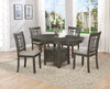 Charcoal Grey Pedestal Dining Set