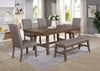 Nostalgic Brown Upholstered Dining Set