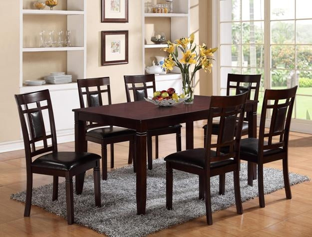 Paige Dark Brown Dining Set