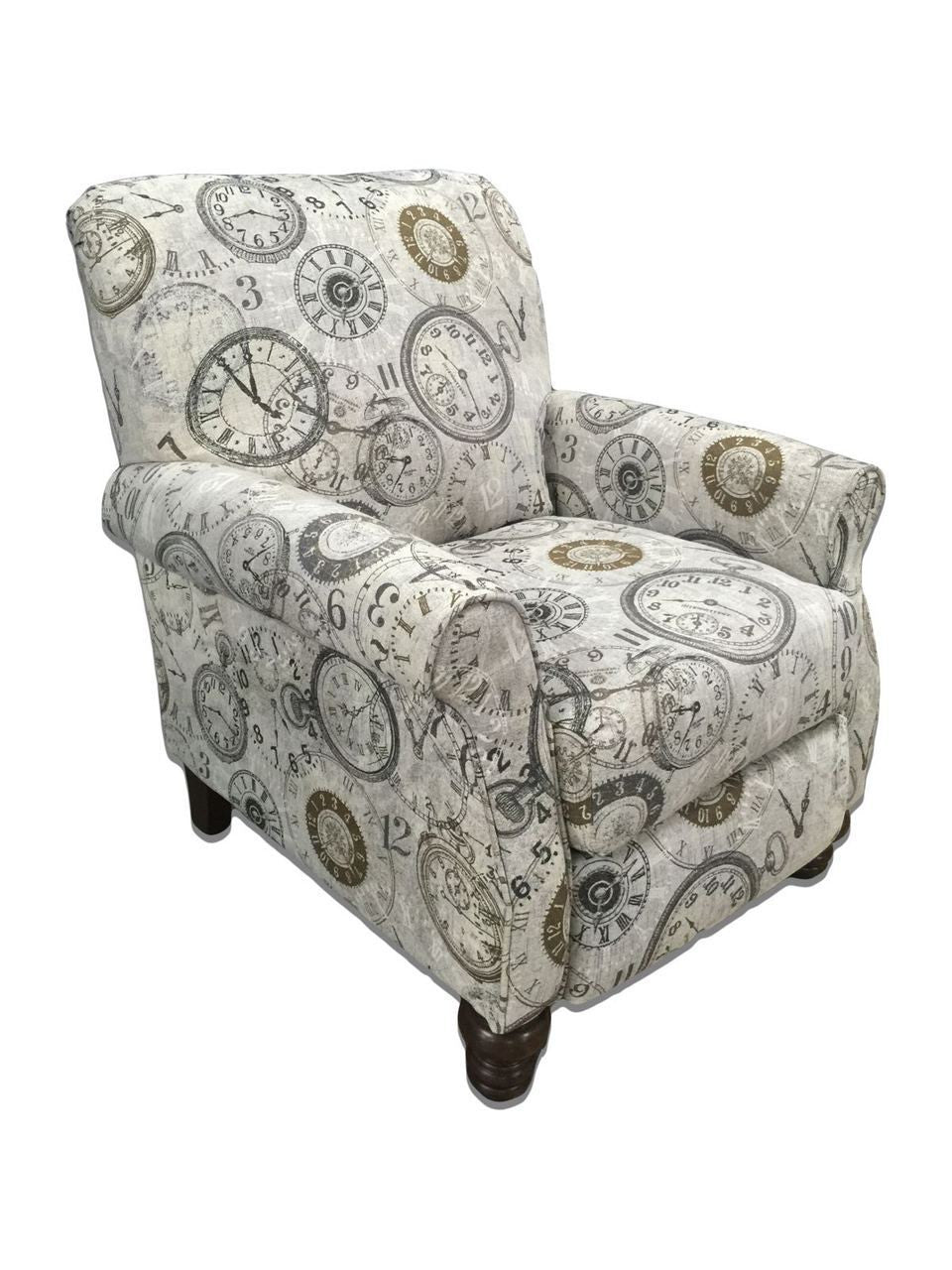 Picture of: Timeless Patina Clockwork Accent Recliner By Serta Upholstery My Furniture Place