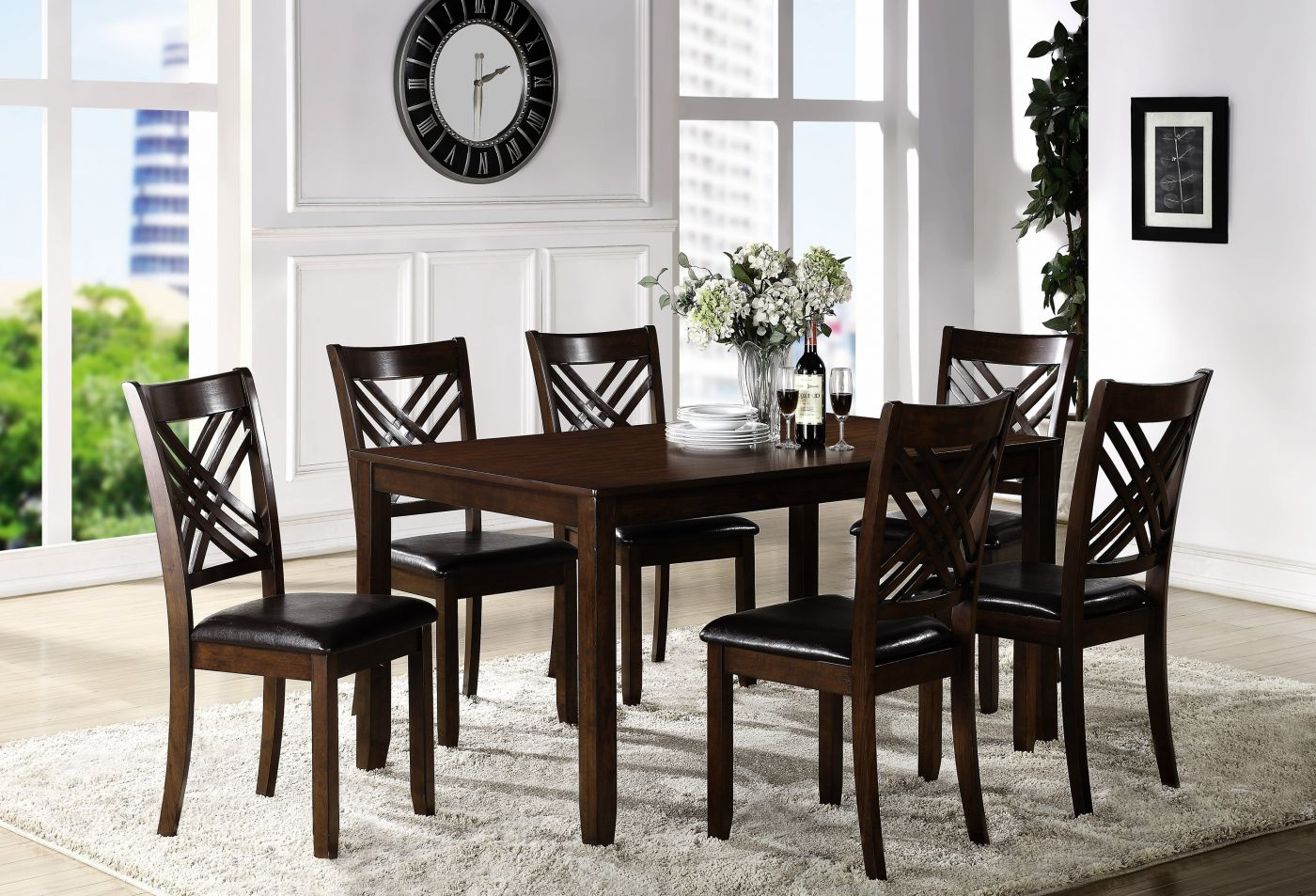 Eloise Espresso Dining Set My Furniture Place