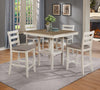 Tahoe White and Oak Counter Dining Set