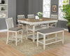 Farmhouse Antique White Counter Dining Set