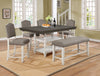 Clover Gray & White Counter Height Dining Set