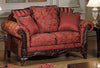 Serta Upholstery Momentum Magenta Sofa and Loveseat
