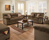 Chestnut Sofa and Loveseat