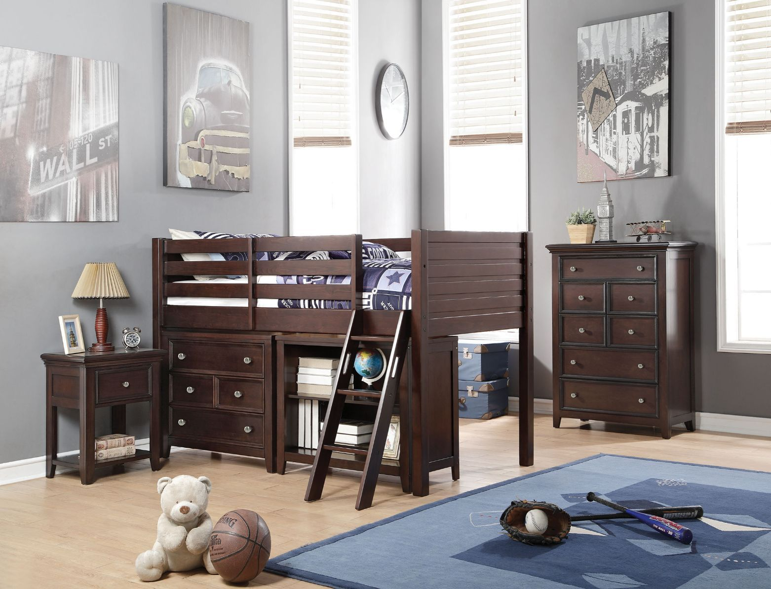Executive Espresso Deluxe Loft Bed Collection