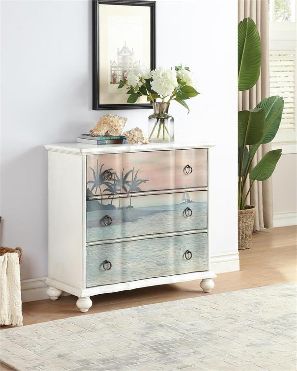 Tropical Sailboat Cabinet My Furniture Place