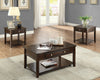 Brown Lift Top Coffee Table Set
