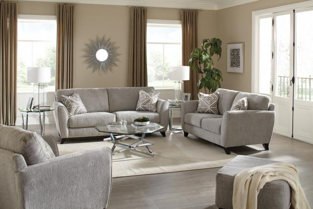 Catnapper Chenille Sofa and Loveseat
