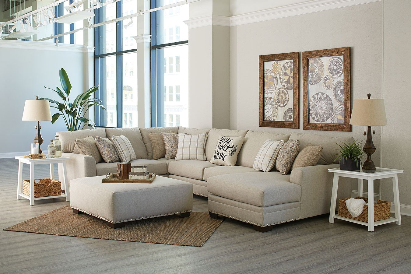 Home Sweet Home Farmhouse Chaise Sectional