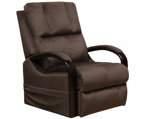 Walnut Power Lift Recliner with Heat & Massage