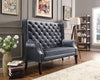 Odina Gray Tufted Accent Loveseat
