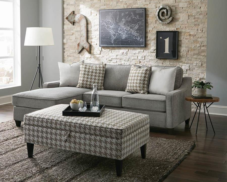 Gray Reversible Storage Chaise Sectional
