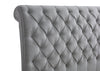Tufted Gray Sleigh Upholstered Bed