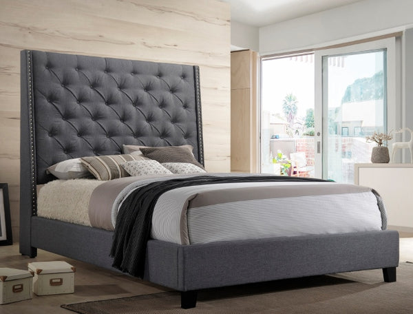 Chantilly Grey Wing Platform Bed