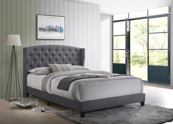 Rosemary Gray Platform Bed