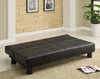 Black Tufted Futon Sofa
