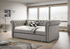 Gray Rolled Arm Trundle Daybed
