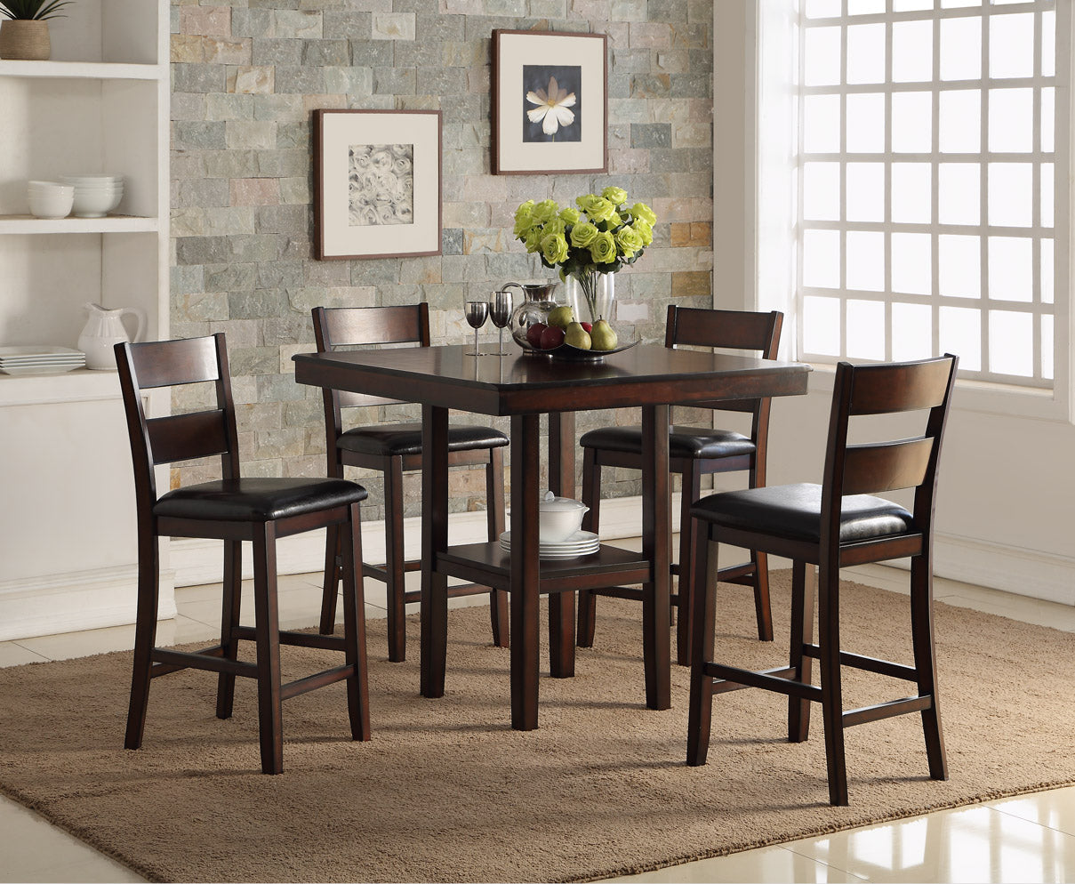 Cromwell Brown Square Counter Dining Set