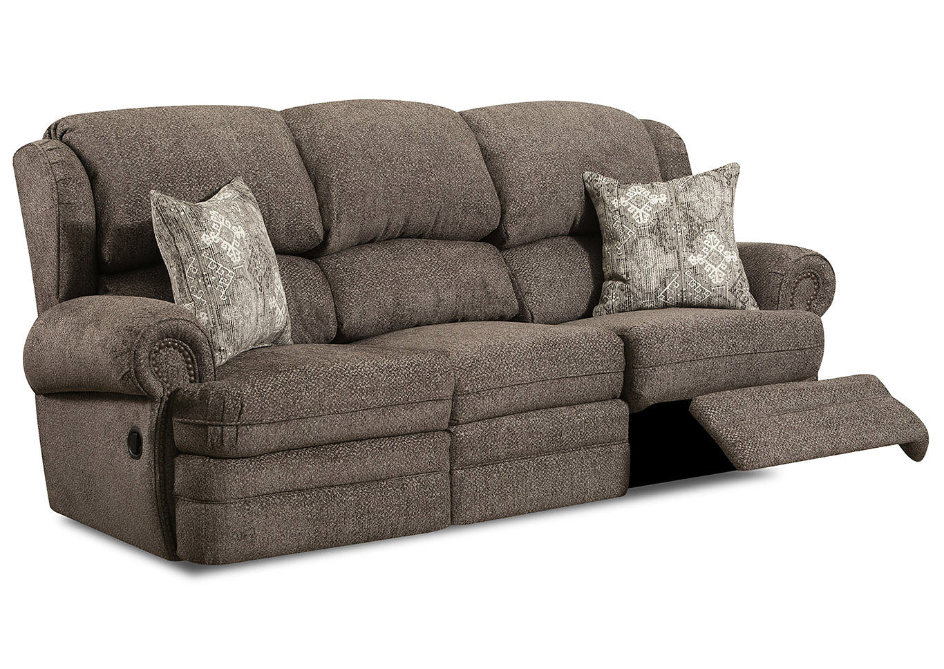 Lane Rosie Mocha Reclining Sofa And Loveseat My