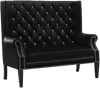 Odina Black Tufted Accent Loveseat
