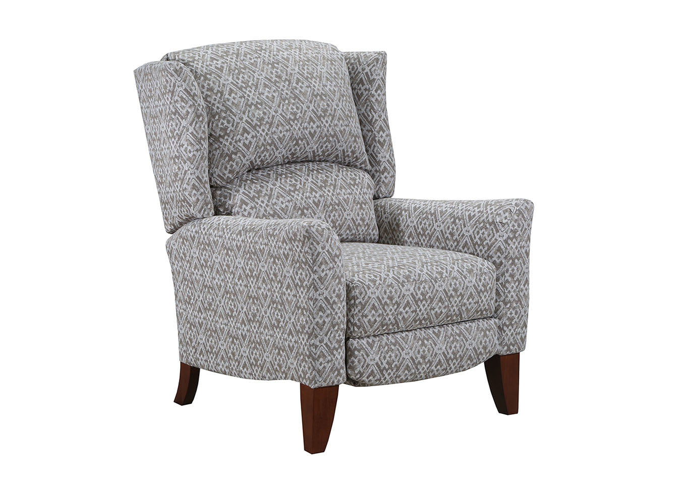 Lane Gray Accent High Leg Recliner