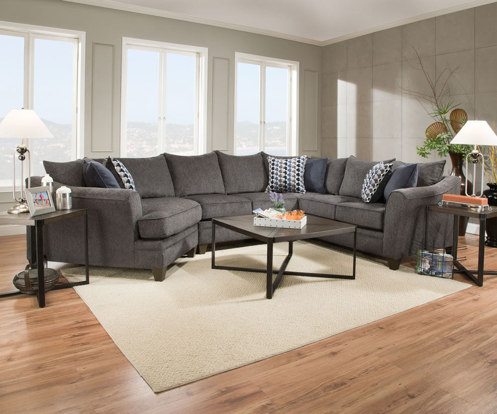 Albany Slate Wedge Sectional
