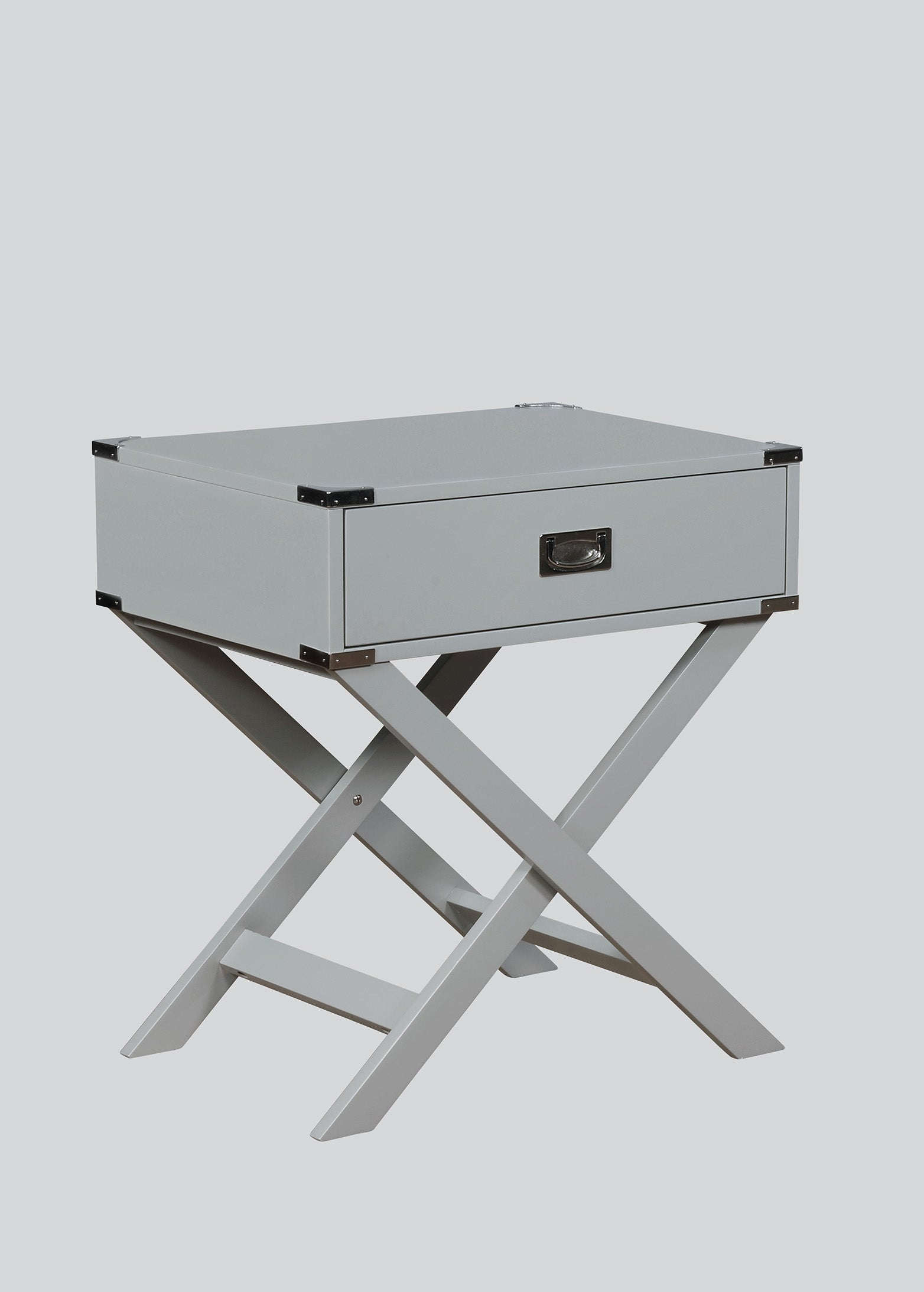 Hudson Gray Chairside Table