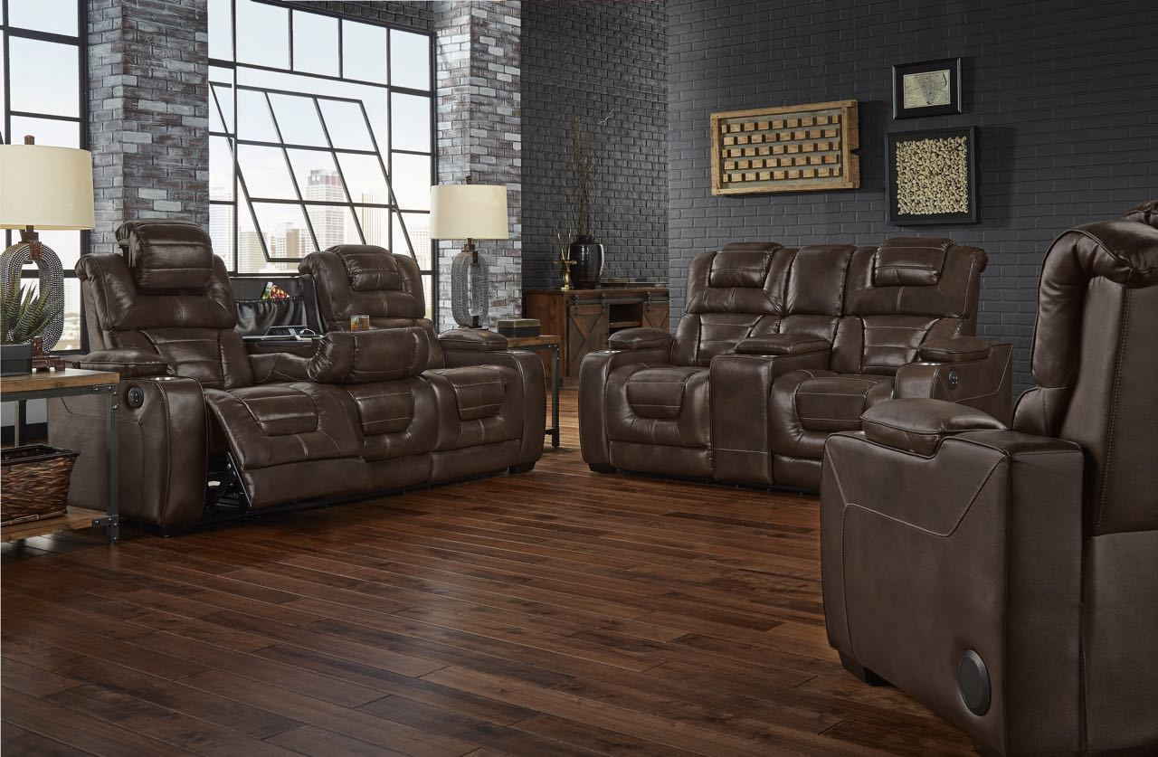 Superb Desert Chocolate Power Reclining Sofa And Loveseat Pabps2019 Chair Design Images Pabps2019Com