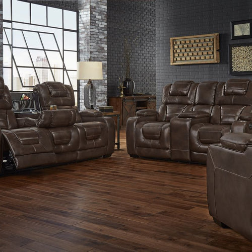 Wustrow Umber Italian Leather Power Reclining Sofa: Italian Leather Softie Oxblood Glider Reclining Sofa And