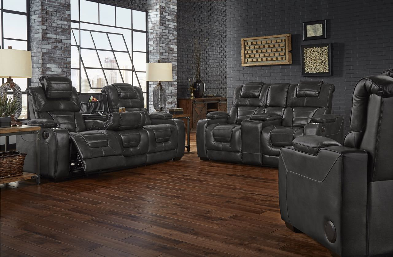 Desert Eclipse Power Reclining Sofa and Loveseat