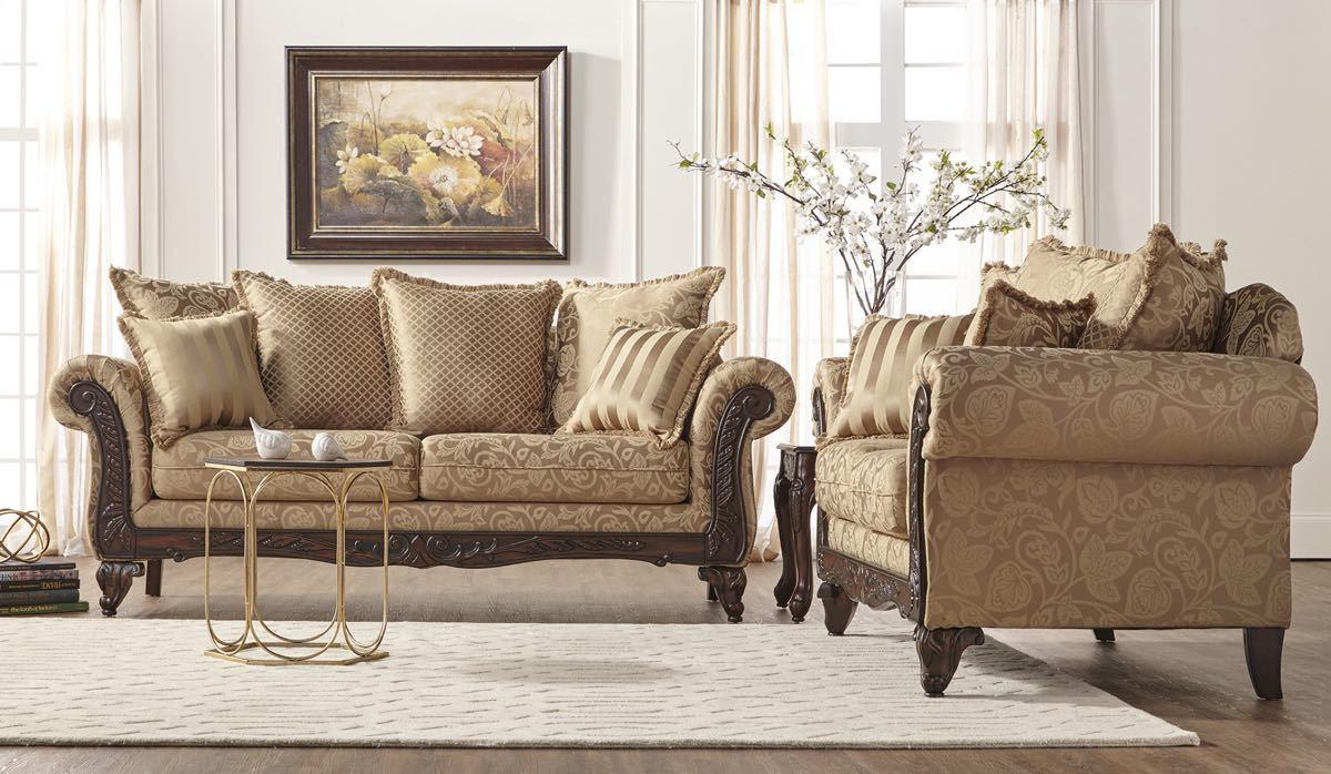 Momentum Khaki Sofa and Loveseat