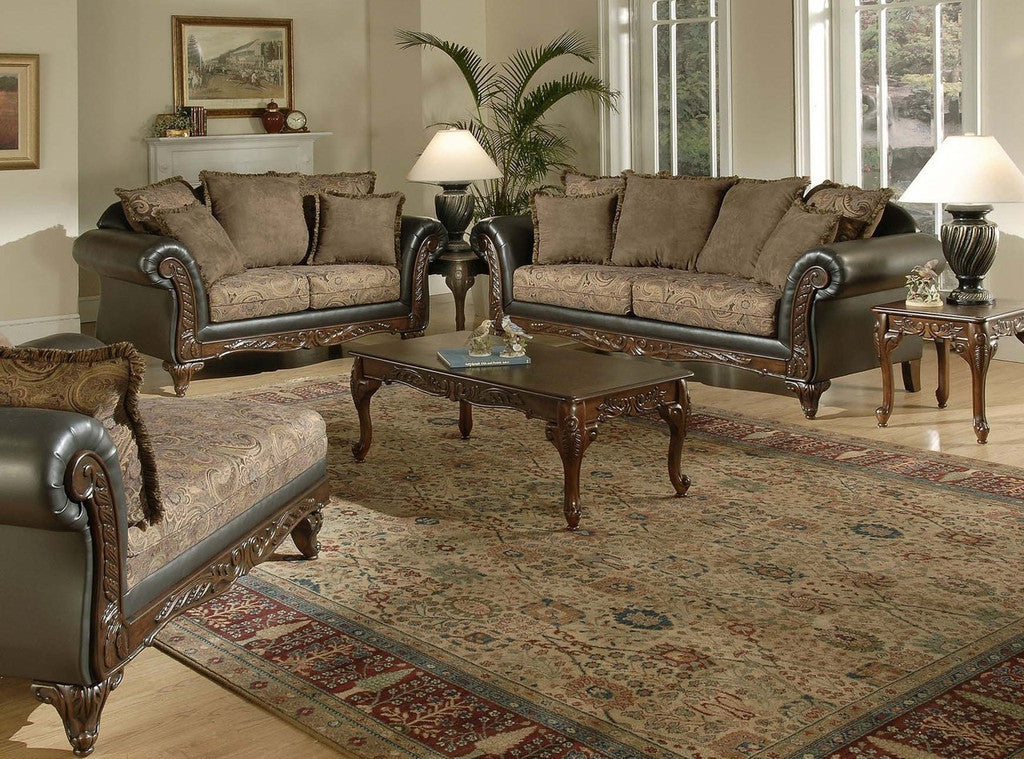 Amazing Silas Raisin Wood Trim Sofa And Loveseat By Serta Upholstery , Stationary  Sofa And Loveseat