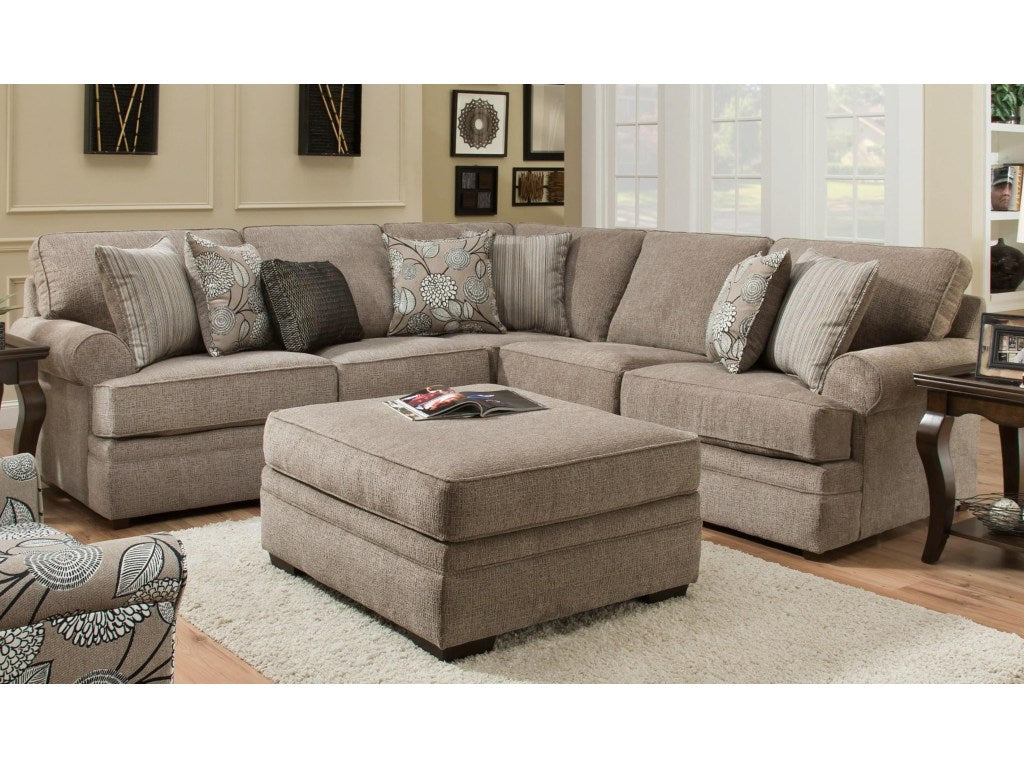 Beautyrest Macy Pewter Sectional